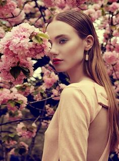 """Cherry Blossom"" Georgia Fowler and Alexandria by Luzena Adams for Odalisque Magazine"