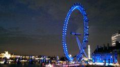 London Eye am Abend