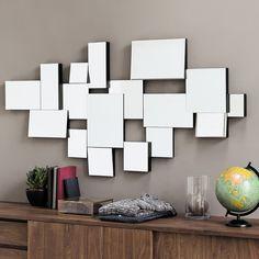 Spiegel facettiert aus schwarzem Holz H140 | Maisons du Monde