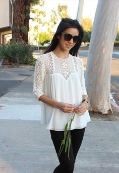 Cecile White Lace Blouse #asosmarketplace #loverelished