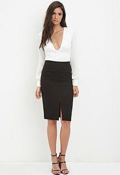 Pocket Pencil Skirt | Forever 21 - 2000179267