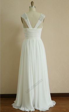 Chiffon Wedding Dress/Bridesmaid dress/Prom Dress by misdress, $139.00