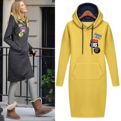 180159,2014-New-Autumn-Ladies-39-Fashion-Spell-Color-Long-Interloop-835-Hooded-Long-Sleeve-Dress-Free-Shipping,0.jpeg (557×557)