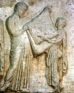 detail of central Parthenon Frieze