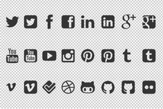 Free Social Media Icon Vector Shapes For Photoshop