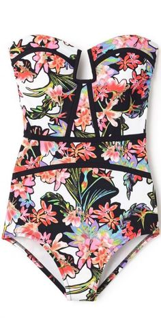 16 Cute one piece swimsuits - classy florals