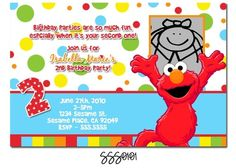 Love this colorful invite