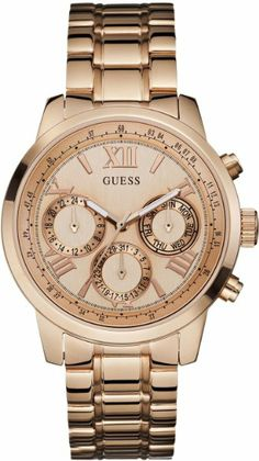 GUESS Women's W0330L2 Rose Gold-Tone Multi-Function Watch