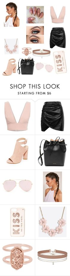 """""""Peach"""" by alexiskepford ❤ liked on Polyvore featuring Animale, Boohoo, Kendall + Kylie, Mansur Gavriel, Kate Spade, J.Crew, Kendra Scott and Miss Selfridge"""