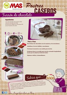 Receta turrón de chocolate Chef Recipes, Kitchen Recipes, Mexican Food Recipes, Sweet Recipes, Deli Food, Colombian Food, Bread Machine Recipes, Love Chocolate, How Sweet Eats