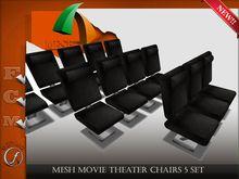 Mesh Movie Theater Chairs 5  set Full perm
