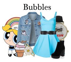 """""""Bubbles"""" by megan-vanwinkle ❤ liked on Polyvore featuring Georgia Perry, Hipstapatch, Anya Hindmarch, Olivia Pratt, Jeremy Scott, Alison Lou, New Look, BCBGMAXAZRIA and patchesandpins"""