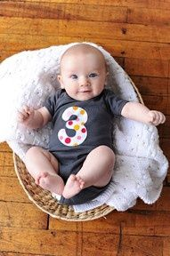 3 month picture ideas - This would be cute for every month & display at 1st birthday!:)