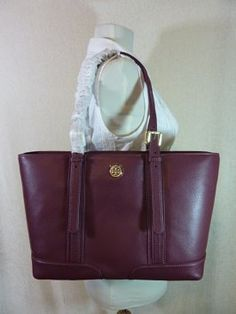 Tory Burch Tote In Burgundy Bag Carry