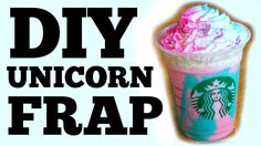 Sold out? No, worries. Here's how to bring the unicorns home. It's a homemade unicorn frappuccino that tastes just like the real thing; You Made What?! Unico...