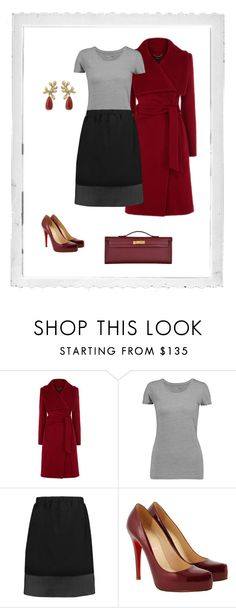"""""""#43"""" by cindrof on Polyvore featuring Mode, Polaroid, Majestic, Brunello Cucinelli, Christian Louboutin, Ole Lynggaard und Hermès"""