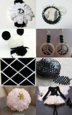 Black and White Never Goes out of Style!!! by Lauren on Etsy--Pinned with TreasuryPin.com #satet #showatell #aliceinwonderland #babyhat #babyheadband #braceletcuff #babyset #daipercover #dress #earrings #memoryboard #paperflowers #pendant #skirt #soap #stuffedanimal #wallart #winebottlecozy #etsy #treasury