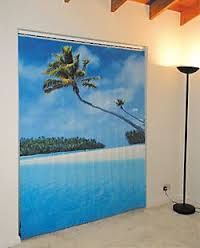 Image result for a mural painted on vertical blinds