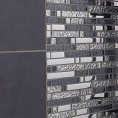Mosaïque mur Ice tendance gris