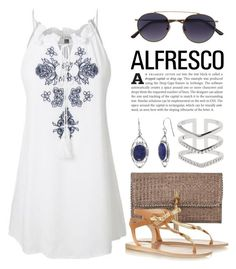 """Easy Breezy: Alfresco Dining 3682"" by boxthoughts ❤ liked on Polyvore featuring LE3NO, Heidi Klein, Ancient Greek Sandals, Spektre, Astrid & Miyu and alfrescodining"