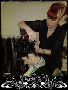 Vintage Hairstyle, Make Up & Styling by Dazzlin' Gal
