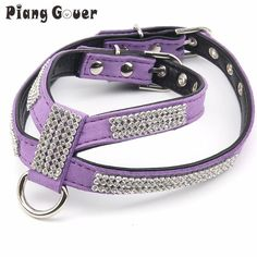 Dog collar Bling Rhinestone Dog Harness Soft Suede Fabric Harness Leash for Small Dog Cat Puppy Pet Accessories S M L SIZE