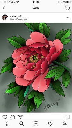 Lotus Tattoo Design, Thigh Tattoo Designs, Flower Tattoo Designs, Flower Tattoos, Flower Designs, Japanese Peony Tattoo, Japanese Tattoo Designs, Japanese Flowers, Japanese Art