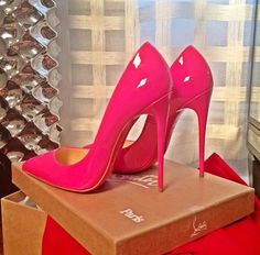 christian louboutin 'so kate 120' in hot pink. #shoeporn