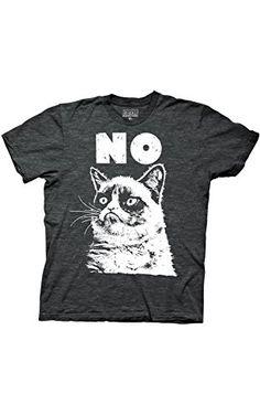 Ripple Junction Grumpy Cat No Adult T-Shirt Medium Charcoal Heather ❤ Ripple Junction