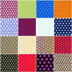 Items similar to Spots by Kaffe Fassett - 16 Fat Quarter Pack on Etsy Fat Quarter Projects, Fibre And Fabric, Fat Quarters, Quilt Making, Color Combos, Crochet Projects, Print Patterns, Dots, Quilts