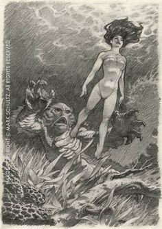 Black Lagoon By Mark Schultz Comic Book Artists, Comic Artist, Comic Books Art, Comic Kunst, Desenho Tattoo, Bd Comics, Black Lagoon, Science Fiction Art, Creature Feature