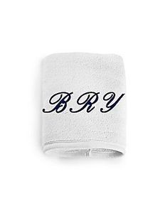 Peter Reed Monogrammed Face Towel