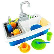 Boley Kitchen Sink Pretend Play Set Working Sink Toy For Kids