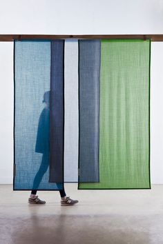 Tinctorial Textiles by Raw Color. Tinctorial Textiles is a new step in the research on natural pigment. Having mainly experimented with vegetable dyes in Textiles, Raw Color, London Design Festival, Color Blending, Panel Curtains, Curtain Panels, Fabric Panels, Backdrops, Signage