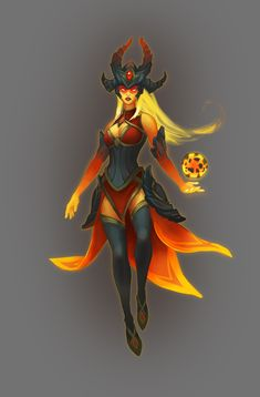 League of Legend champion Syndra reskin. Fantasy Demon, New Fantasy, Fantasy Monster, Medieval Fantasy, Fantasy Girl, Champions League Of Legends, League Of Legends Characters, Lol League Of Legends, Character Inspiration