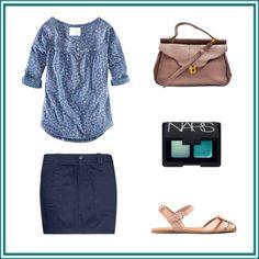¿Qué me pongo hoy? -Vamos a ver el miércoles en tonos azules, ¿qué os parece?    azul por yoquemepongo con h  H , $21 / Mango short mini skirt, $29 / Pull pull bear, $48 / NARS Cosmetics blue eye shadow