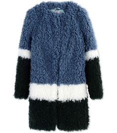 Shrimps Color-Block Faux Fur Coat