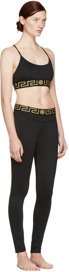 17534a59520e2 Versace Underwear - Black Medusa Bra Versace Underwear