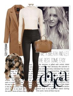 """""""Classy chic plaid and leopard print fall outfit"""" by cherrysnoww ❤ liked on Polyvore featuring Abercrombie & Fitch, Topshop, Pieces, Christian Louboutin, Givenchy, Rebecca Minkoff, Charlotte Russe, Michael Kors, Casetify and Yves Saint Laurent"""