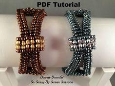 A personal favorite from my Etsy shop https://www.etsy.com/listing/217783175/bowtie-bracelet-pdf-tutorial