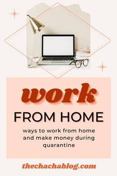Working from home has become easier than ever thanks to our current times. Here are ways to work from home now! Career goals, careers, working at home, stay at home mom, work from home jobs, work from home tips, career advice, career tips, personal development, career ideas, boss babe, CEO mindset, productivity.