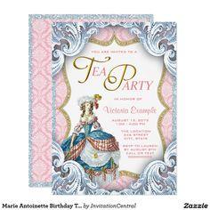 Marie Antoinette Birthday Tea Party Card