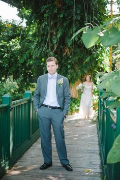 First look on the garden bridge.   Shea Christine Photography
