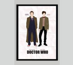 Doctor Who Poster Tenth and Eleventh Doctors by POSTERED on Etsy, $15.00 AUD