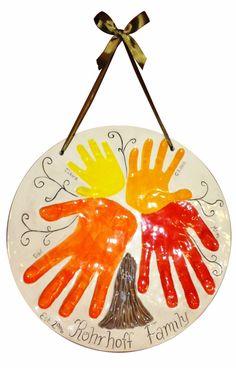 Clay Family Handprint Tree