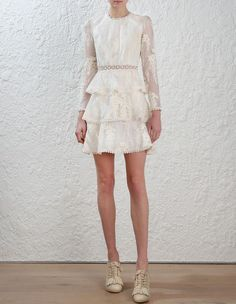 Zimmermann Maples Tier Dress. Model Image.