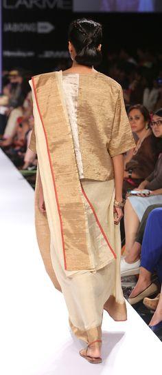 festive Ganga Jamuna Linen Sari