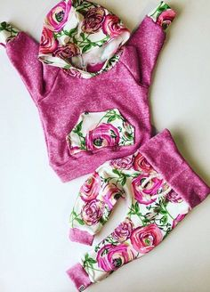 Baby girl outfit / baby clothes / floral baby by BornApparel