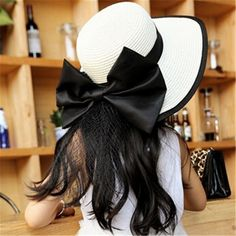 2017 Hot sale Big Bows Flower Seaeside sun hats for women summer large brimmed straw hat folding beach girls sun hat wholesale