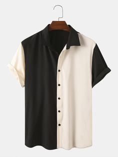 Casual Shirts, Casual Outfits, Men Casual, Chemise Fashion, Loose Shirts, Clothes For Sale, Shirt Style, Ideias Fashion, Shirt Designs